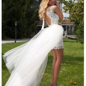 Robe De Mariée 2 En 1 Originale Courte Blanche | Soirée Blanche