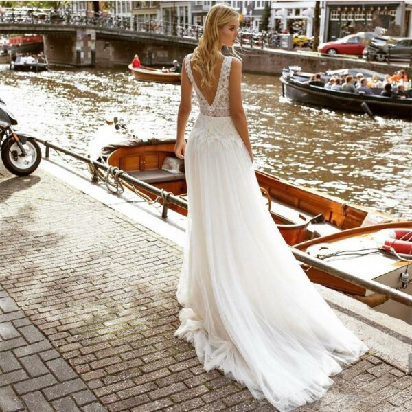 Robe De Mariée Simple Bohème Blanche