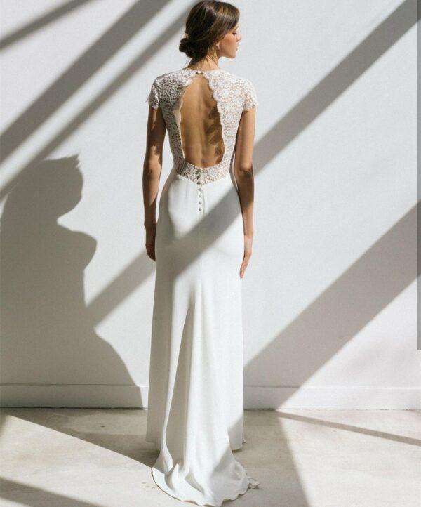 Robe De Mariée Bohème Chic Dos Nu Blanche | Soirée blanche