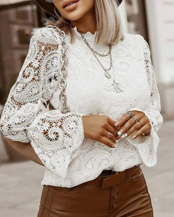 Haut Blanc Femme Chic   Soirée Blanche