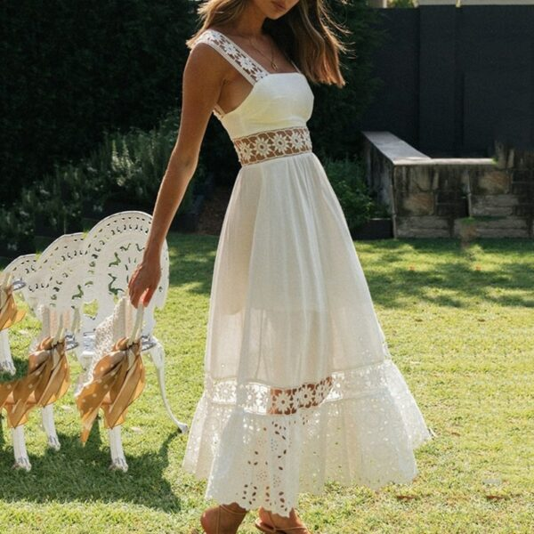Robe Blanche Bohème Chic | Soirée blanche