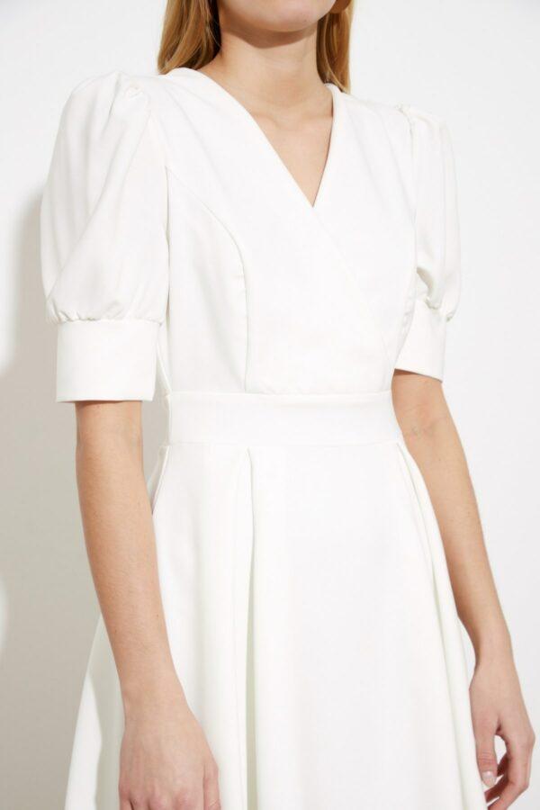 Robe Blanche Patineuse Courte et Fluide | Soirée Blanche