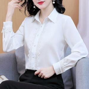 Chemise Blanche Femme Soie | Soirée Blanche