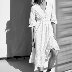 Robe Coton Blanche Dentelle | Soirée Blanche