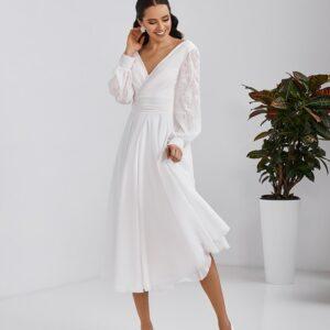 Robe de Mariée Courte Fluide Et Chic Blanche | Soirée Blanche