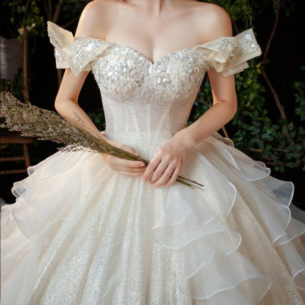Robe de Mariée Princesse Strass | Soirée Blanche