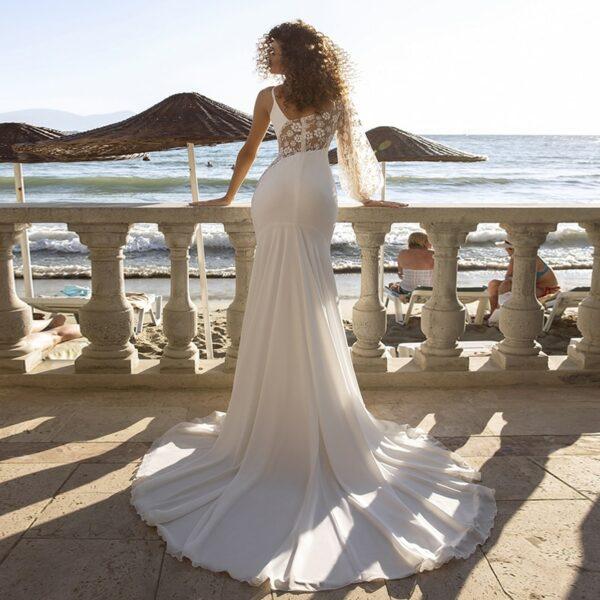 Robe Blanche Longue de Cérémonie de Mariage | Soirée Blanche