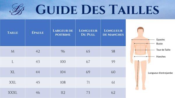 Guide des Tailles - Pull Moulant Blanc - Soirée Blanche