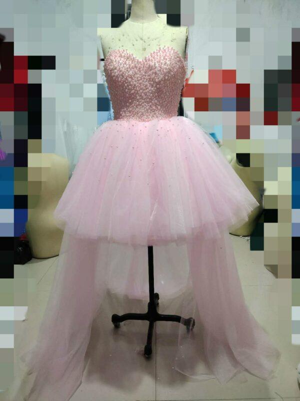 Robe De Mariée Courte Avec Perles Blanche | Soirée Blanche