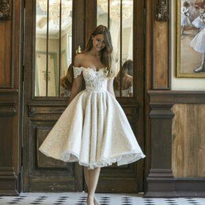 Robe De Mariée Courte Brillante Blanche   Soirée blanche