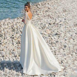 Robe De Mariage Glamour Chic Blanche | Soirée Blanche