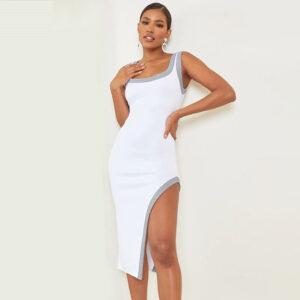 Robe Blanche Argentée | Soirée Blanche