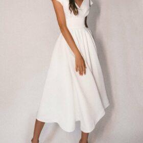Robe Blanche Année 30 Dos Nu   Soirée Blanche