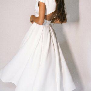 Robe Blanche Année 30 Dos Nu | Soirée Blanche