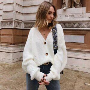 Gilet Oversize Blanc Femme | Soirée Blanche