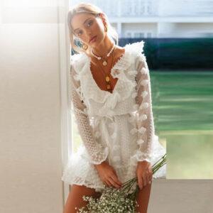Robe Blanche Fleur | Soirée Blanche