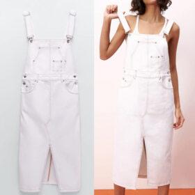 Robe Salopette Blanche Grandes Tailles   Soirée blanche