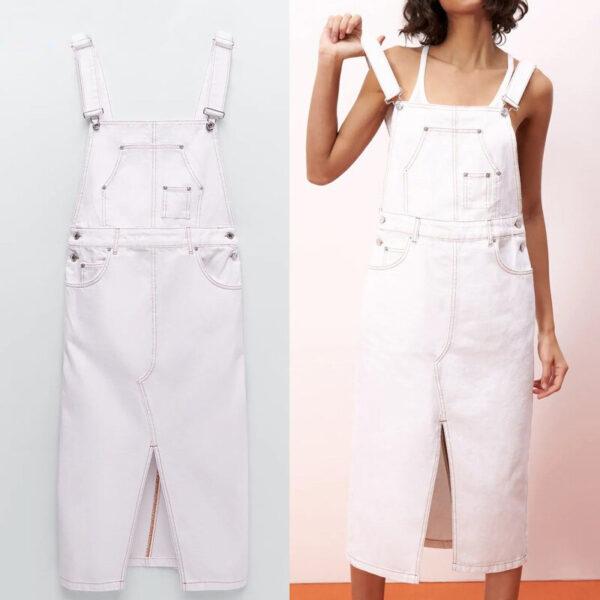 Robe Salopette Blanche Grandes Tailles | Soirée blanche