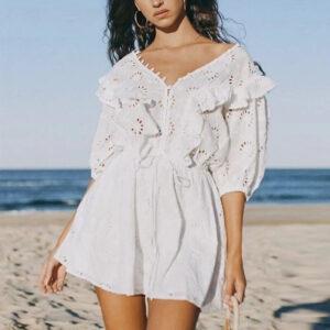 Robe D'été Blanche Bohême | Soirée Blanche