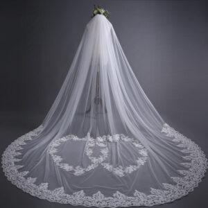 Voile Mariage Avec Cœurs Blanc Cassé | Soirée Blanche