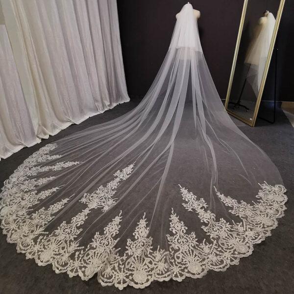 Voile Mariage Long | Soirée Blanche