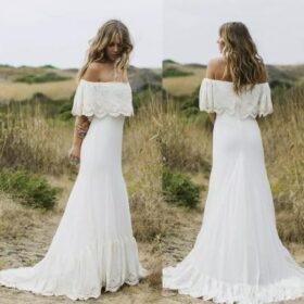 Robe De Mariage Champêtre Blanche   Soirée Blanche