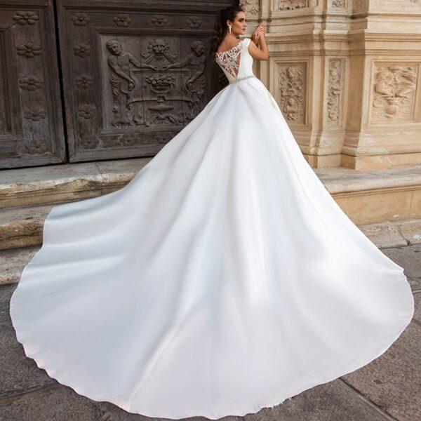 Robe De Mariée Dos Perlé Blanche | Soirée Blanche