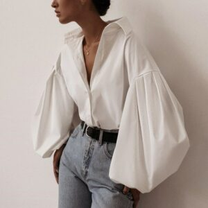 Chemise Blanche Sexy Vintage | Soirée Blanche