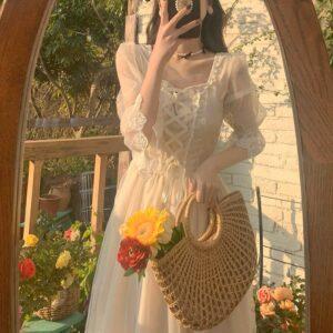 Robe Patineuse Blanche | Soirée Blanche