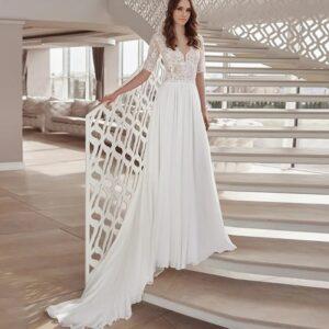 Robe De Mariée Droite Blanche | Soirée Blanche