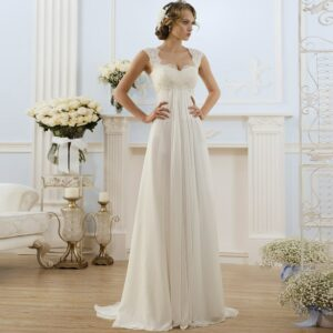 Robe De Mariée Style Empire Blanche | Soirée Blanche