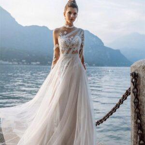 Robe De Mariée Bohème Automne Blanche | Soirée blanche