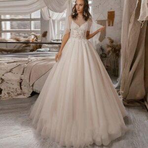 Robe De Mariée Princesse Scintillante Blanche   Soirée Blanche