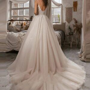 Robe De Mariée Princesse Scintillante Blanche | Soirée Blanche
