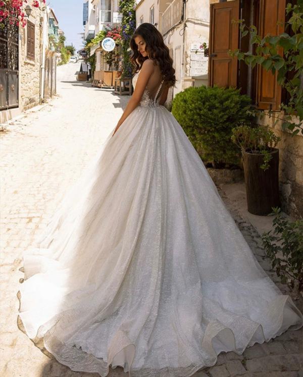 Robe De Mariée Princesse Luxe   Soirée Blanche