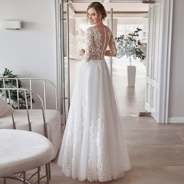 Robe De Mariée Manche 3 4 | Soirée Blanche