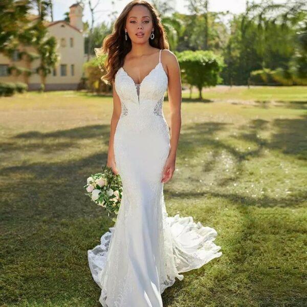 Robe De Mariée Sirène Simple Blanche | Soirée Blanche