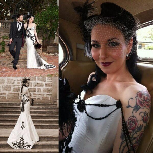 Robe De Mariée Gothique Blanche | Soirée Blanche