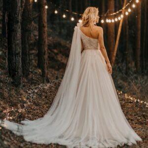 Robe De Mariée Epaule Dénudée Blanche | Soirée Blanche