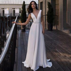 Robe De Mariée Chic Blanche | Soirée Blanche