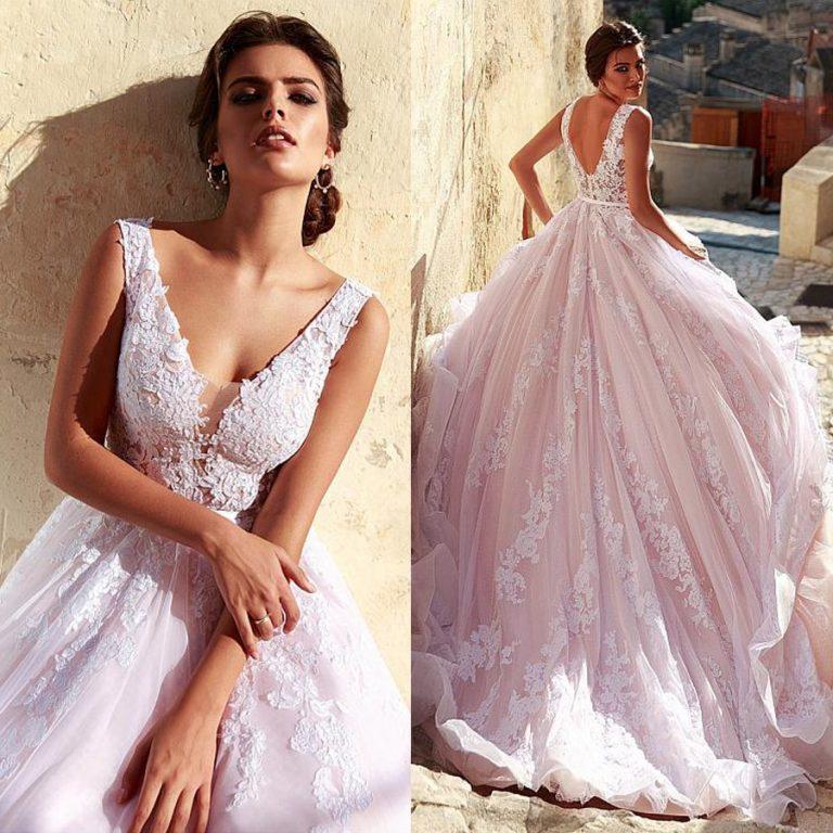 3 conseils pour choisir la robe de mariée parfaite - robe rose