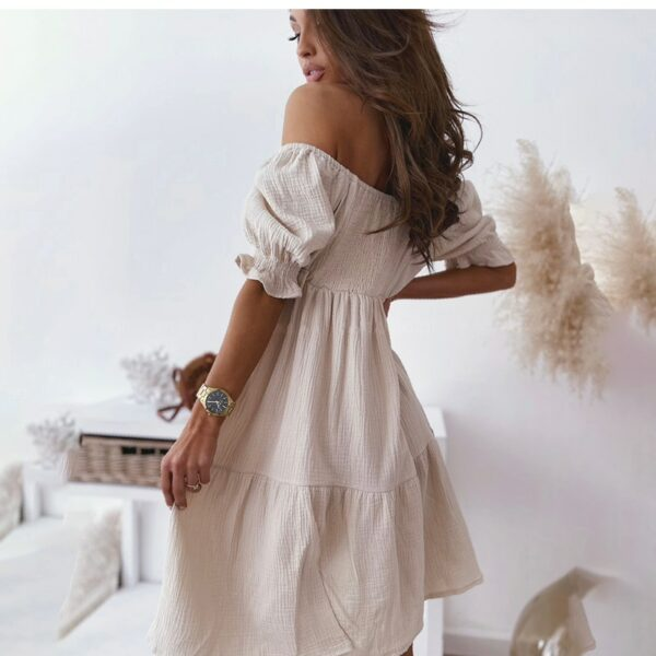 Robe Courte Bohème Blanche | Soirée Blanche