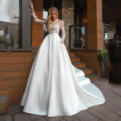 Robe De Mariée Princesse Fleurie Blanche   Soirée Blanche