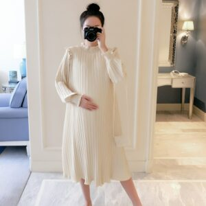 Robe Blanche Grossesse Hiver | Soirée Blanche
