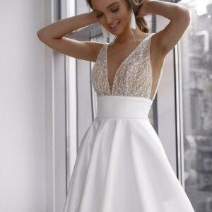 Robe De Mariée Princesse Simple Blanche | Soirée Blanche