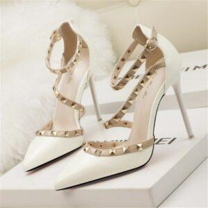 Chaussures A Talons Blanche | Soirée Blanche