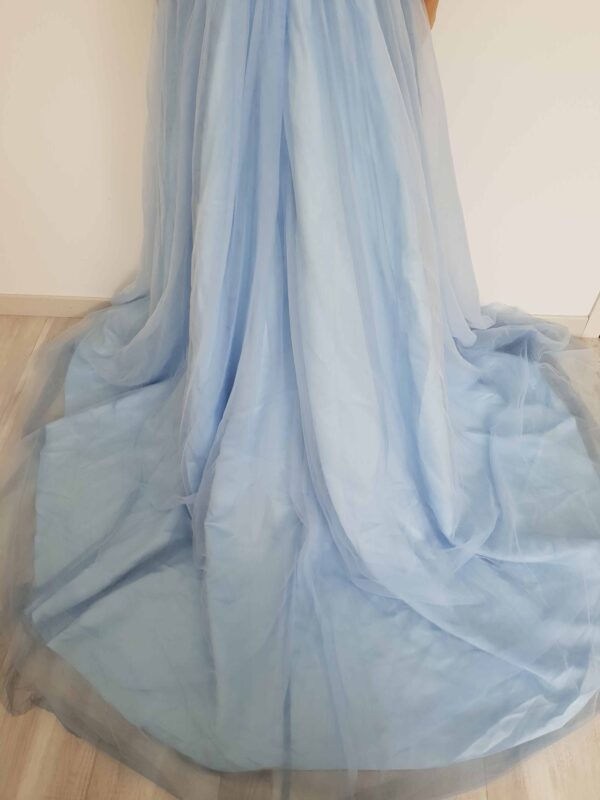 Robe De Mariée Blanche Et Bleu   Soirée Blanche