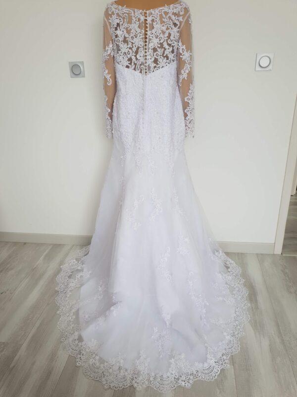 Robe De Mariée Blanche Avec Traîne - Blanc - Taille 46 | Soirée blanche