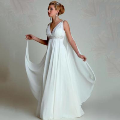 Robe De Mariée Déesse Grecque Blanche   Soirée Blanche