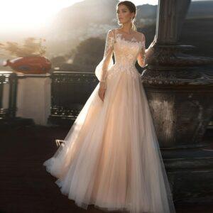 Robe De Mariée Princesse A Fleurs | Soirée Blanche